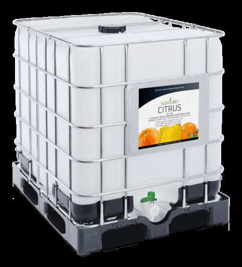 Kemgro Crop Solutions Citrus 1000 Litre fertilizer photo of palletainer.