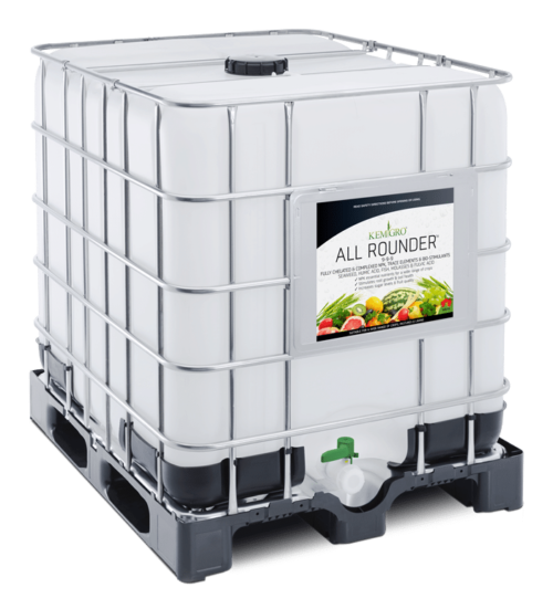 Kemgro Crop Solutions All Seasons 1000 Litre fertilizer photo of palletainer.